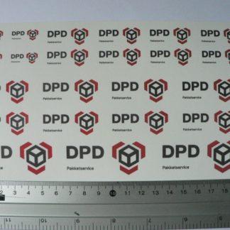 Dutch DPD Pakketservice water transfer decals